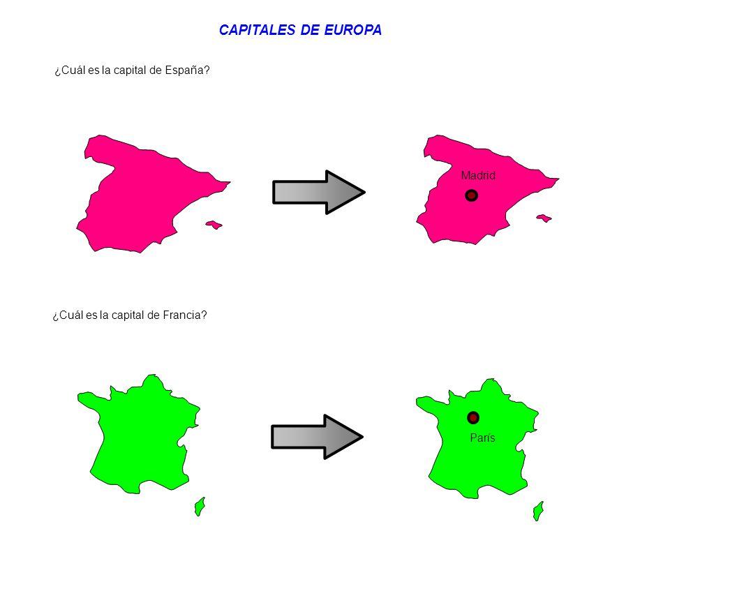 CAPITALES DE EUROPA ¿Cuál es la capital de España Madrid