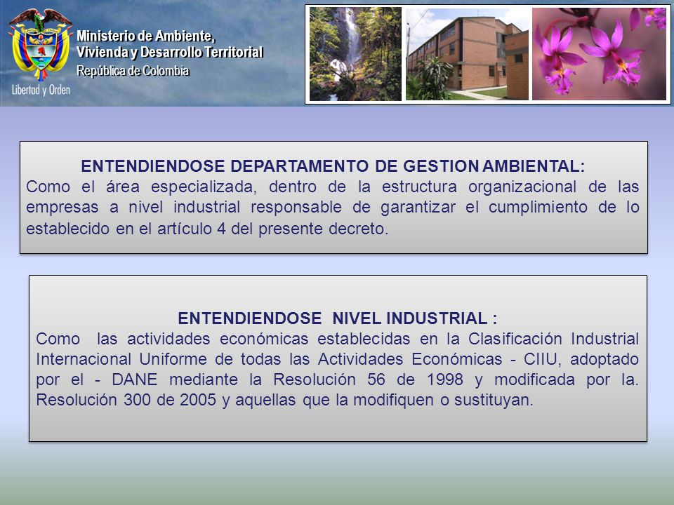 ENTENDIENDOSE DEPARTAMENTO DE GESTION AMBIENTAL:
