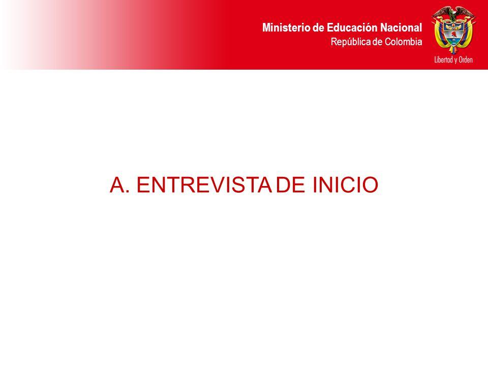 A. ENTREVISTA DE INICIO 22