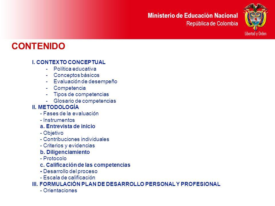 CONTENIDO I. CONTEXTO CONCEPTUAL Política educativa Conceptos básicos