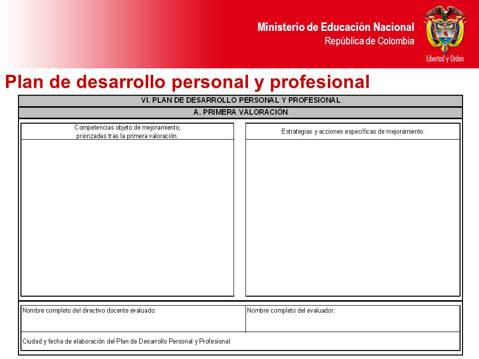 Plan de desarrollo personal y profesional