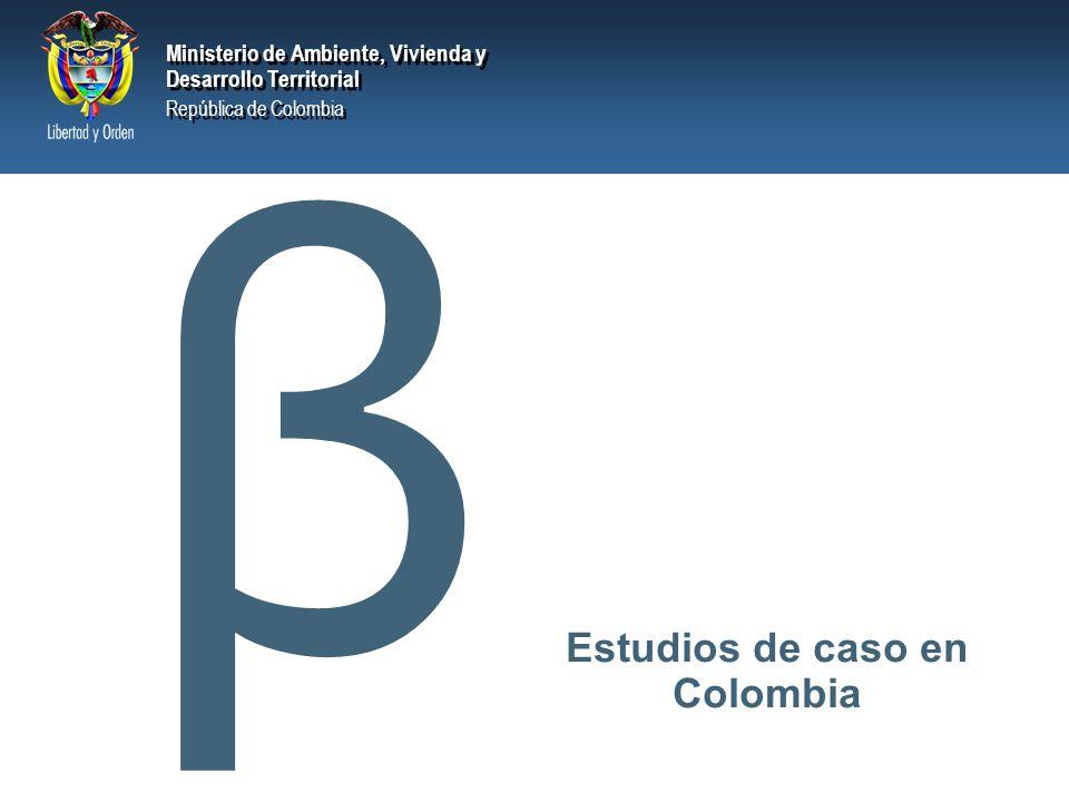 Estudios de caso en Colombia
