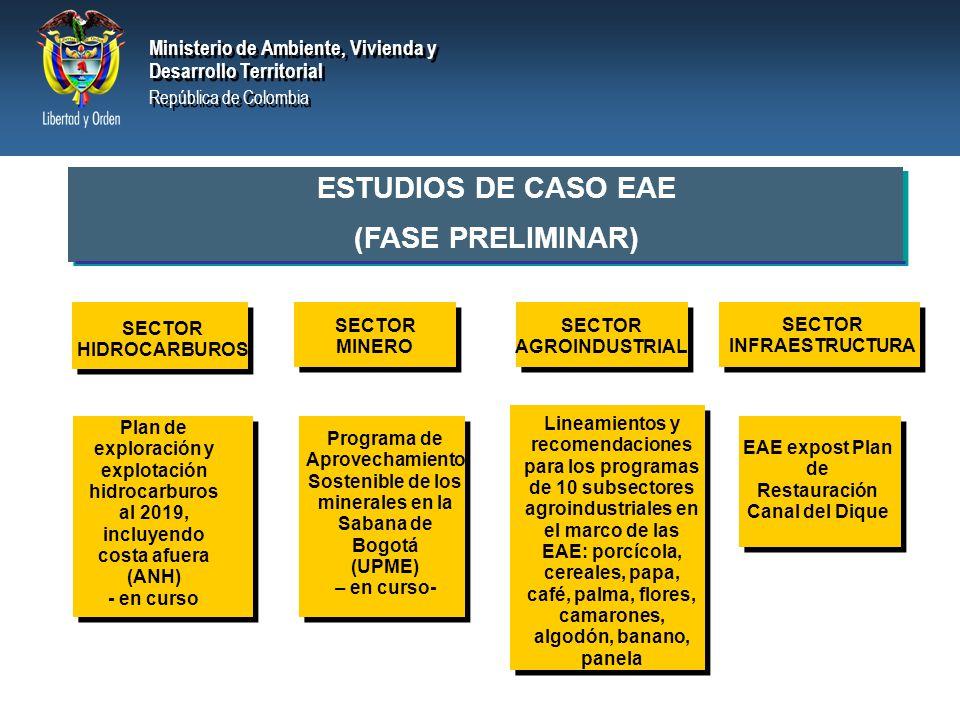 ESTUDIOS DE CASO EAE (FASE PRELIMINAR)