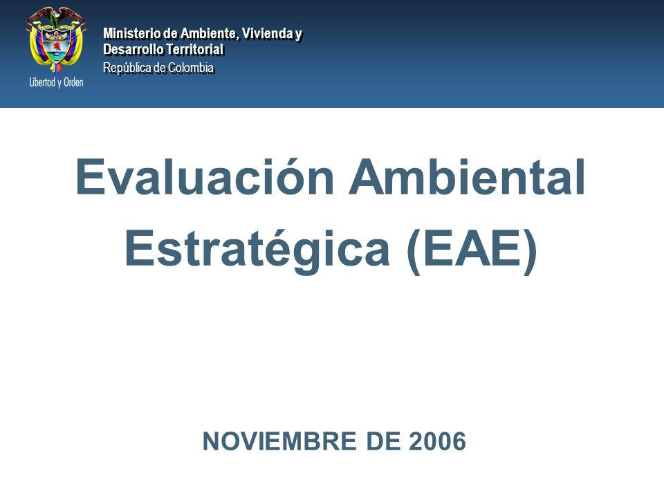Evaluación Ambiental Estratégica (EAE)