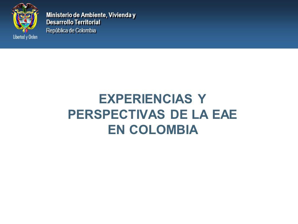 EXPERIENCIAS Y PERSPECTIVAS DE LA EAE EN COLOMBIA