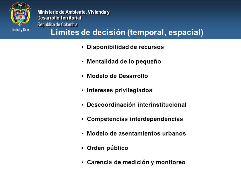 Limites de decisión (temporal, espacial)