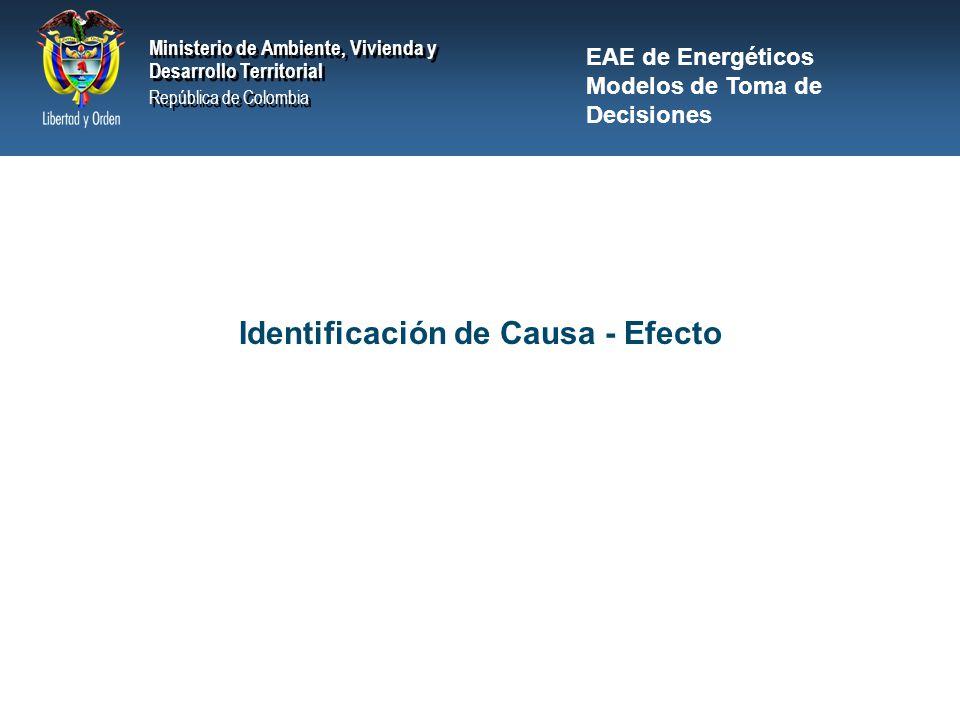 Identificación de Causa - Efecto