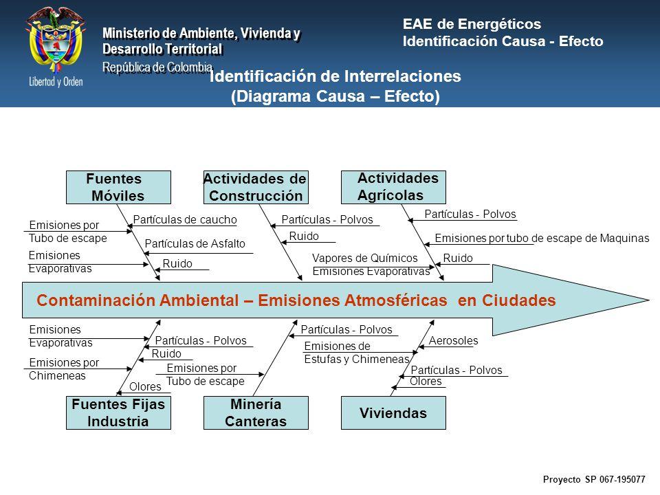 Identificación de Interrelaciones (Diagrama Causa – Efecto)