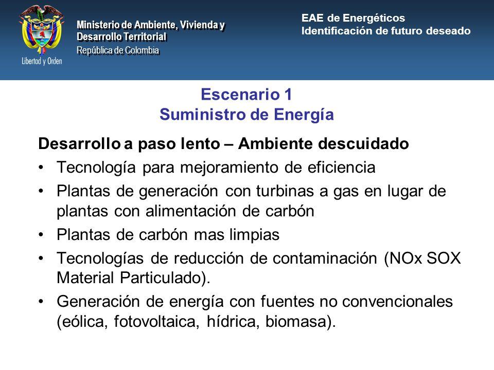 Escenario 1 Suministro de Energía