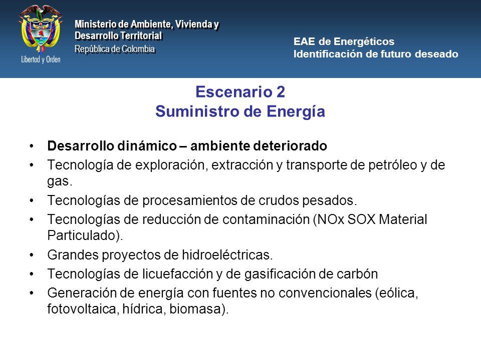 Escenario 2 Suministro de Energía