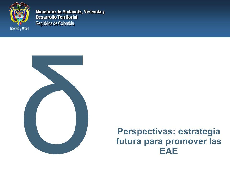 Perspectivas: estrategia futura para promover las EAE