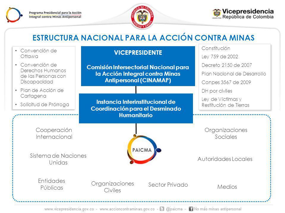 ESTRUCTURA NACIONAL PARA LA ACCIÓN CONTRA MINAS