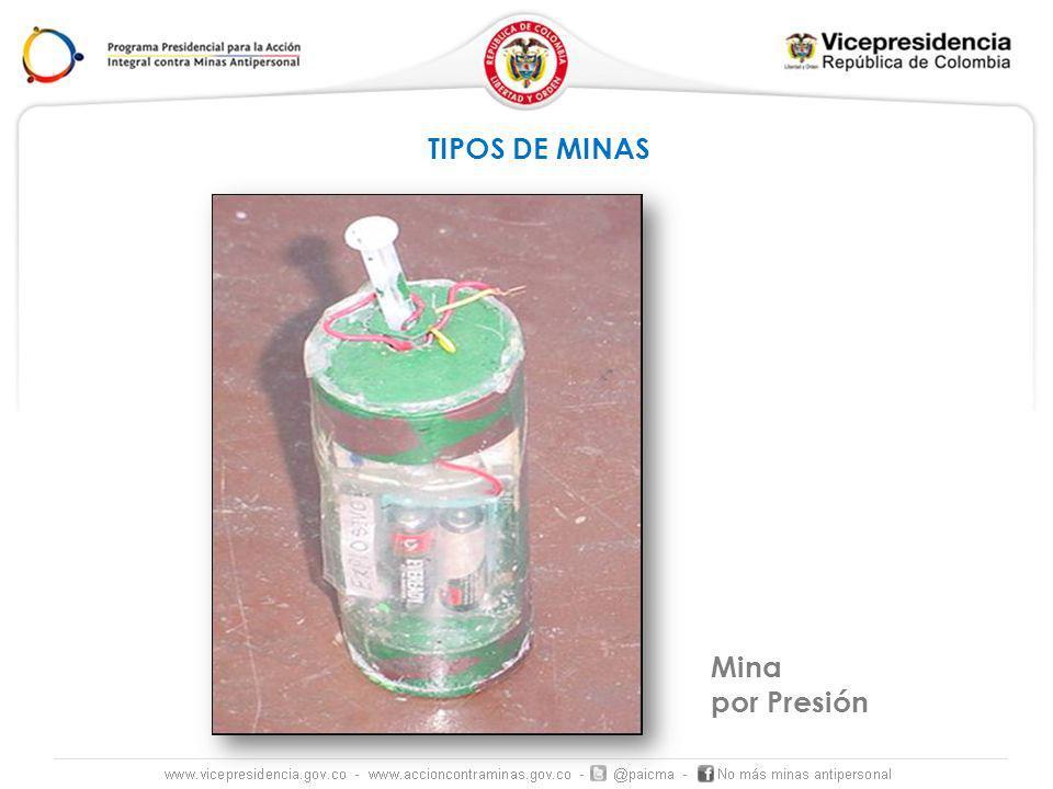 TIPOS DE MINAS Mina por Presión