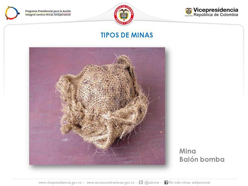 TIPOS DE MINAS Mina Balón bomba