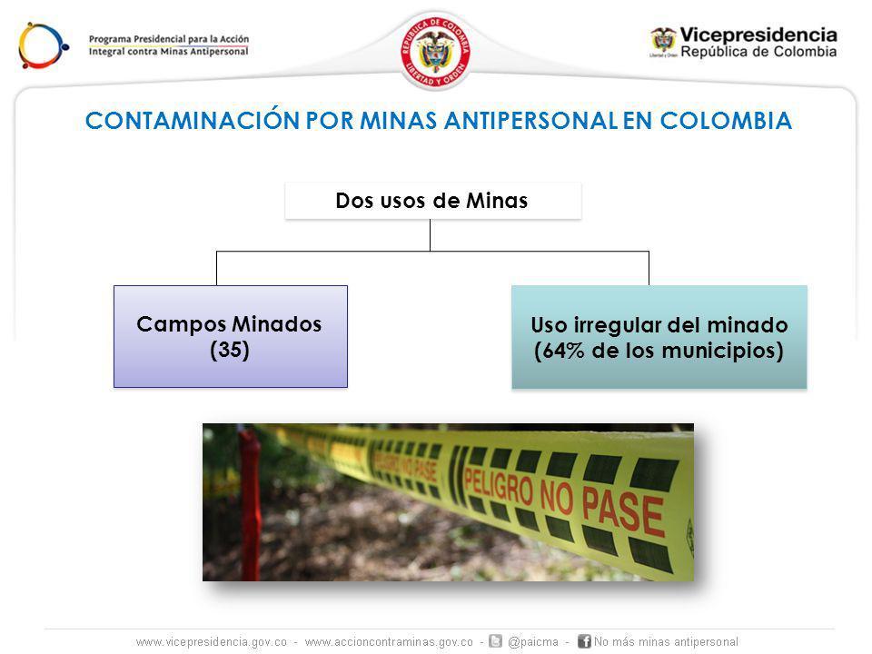 CONTAMINACIÓN POR MINAS ANTIPERSONAL EN COLOMBIA