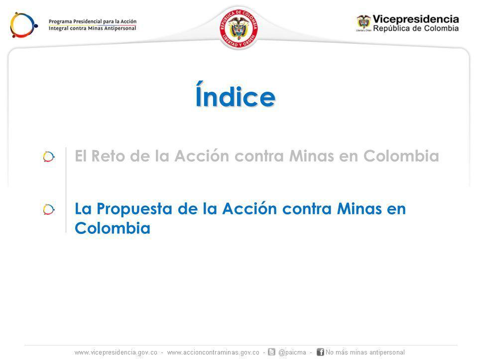 Índice El Reto de la Acción contra Minas en Colombia
