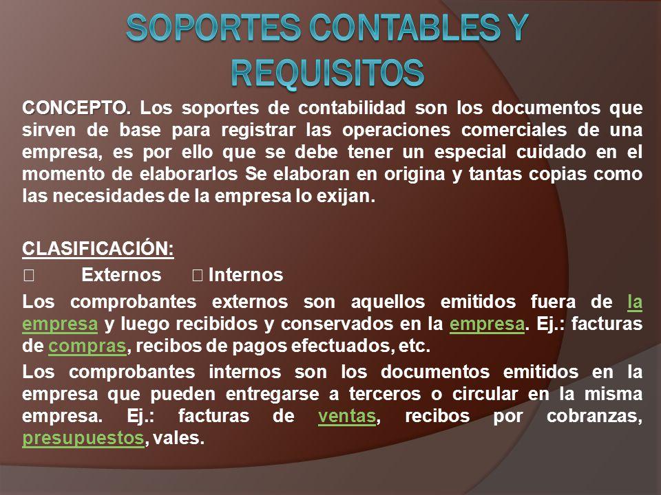 SOPORTES CONTABLES Y REQUISITOS