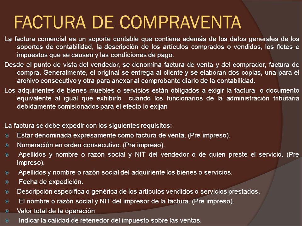FACTURA DE COMPRAVENTA