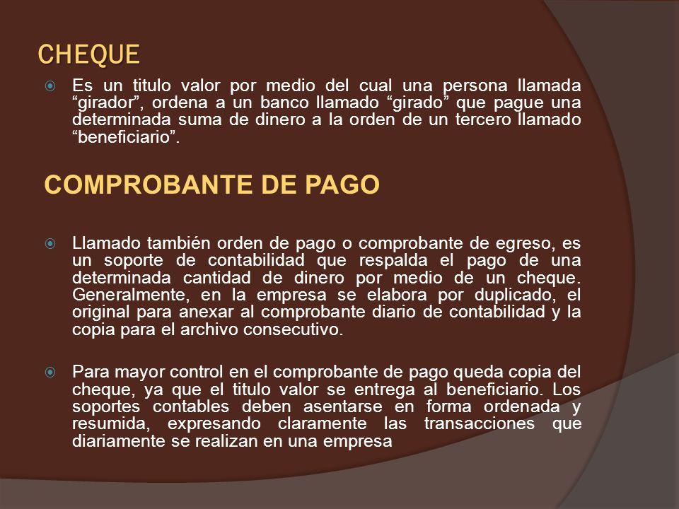 CHEQUE COMPROBANTE DE PAGO