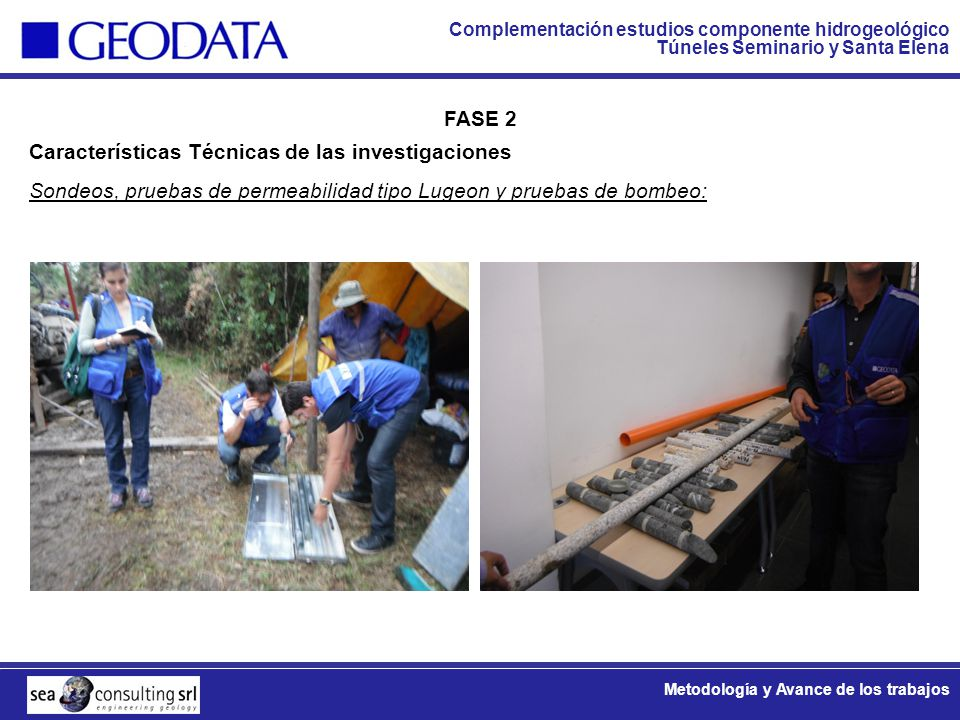 FASE 2 Características Técnicas de las investigaciones.