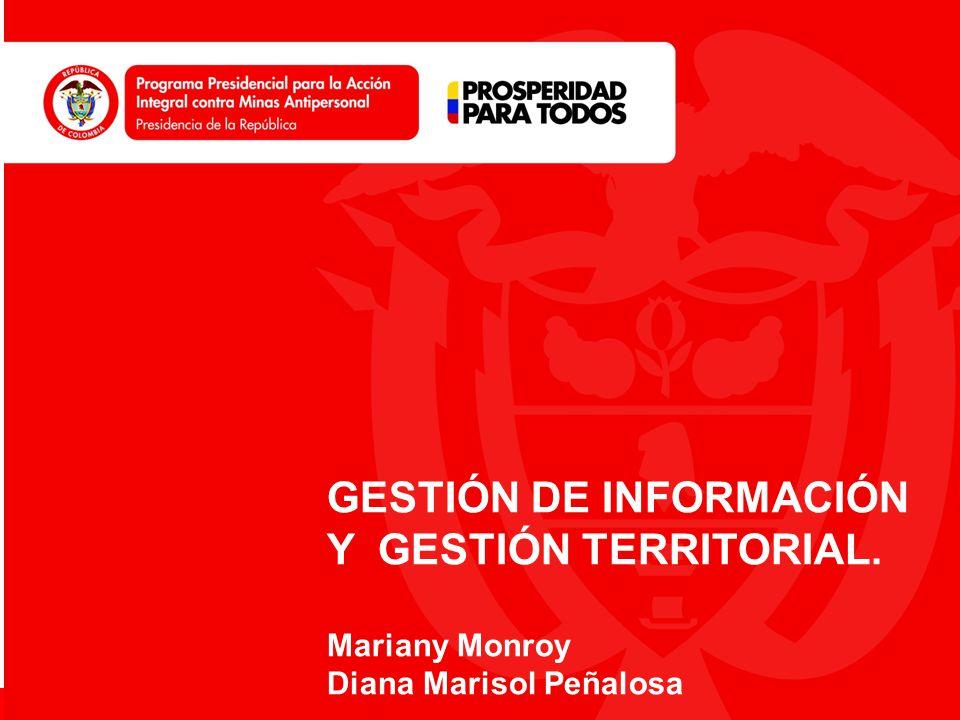 GESTIÓN DE INFORMACIÓN Y GESTIÓN TERRITORIAL.