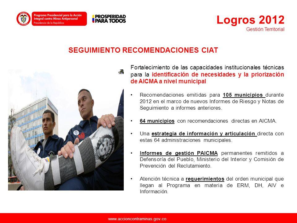 SEGUIMIENTO RECOMENDACIONES CIAT