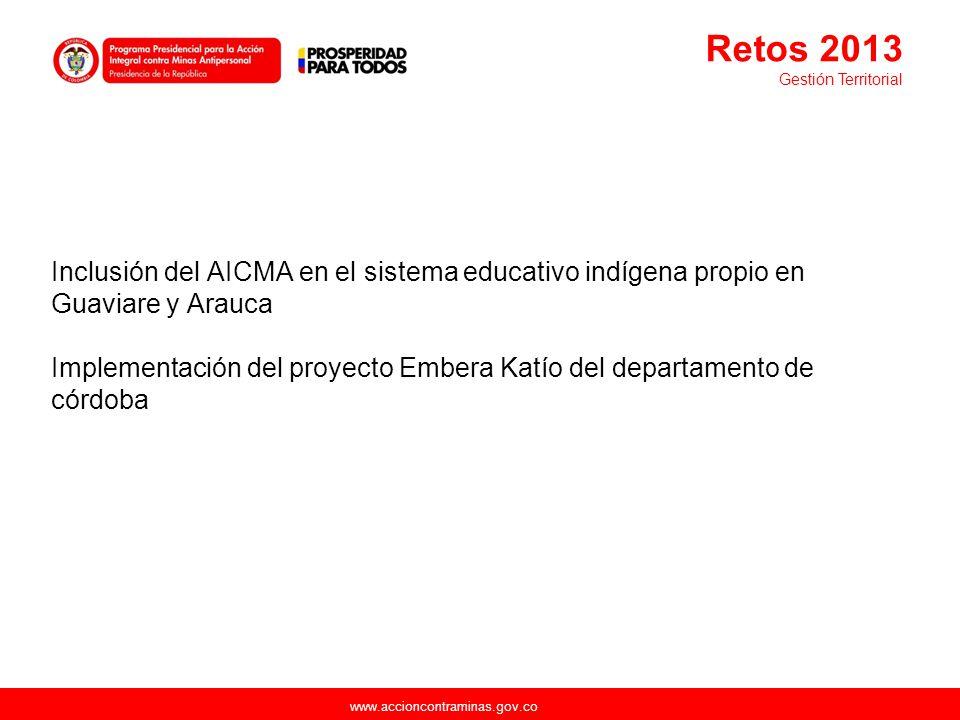 Retos 2013 Gestión Territorial.
