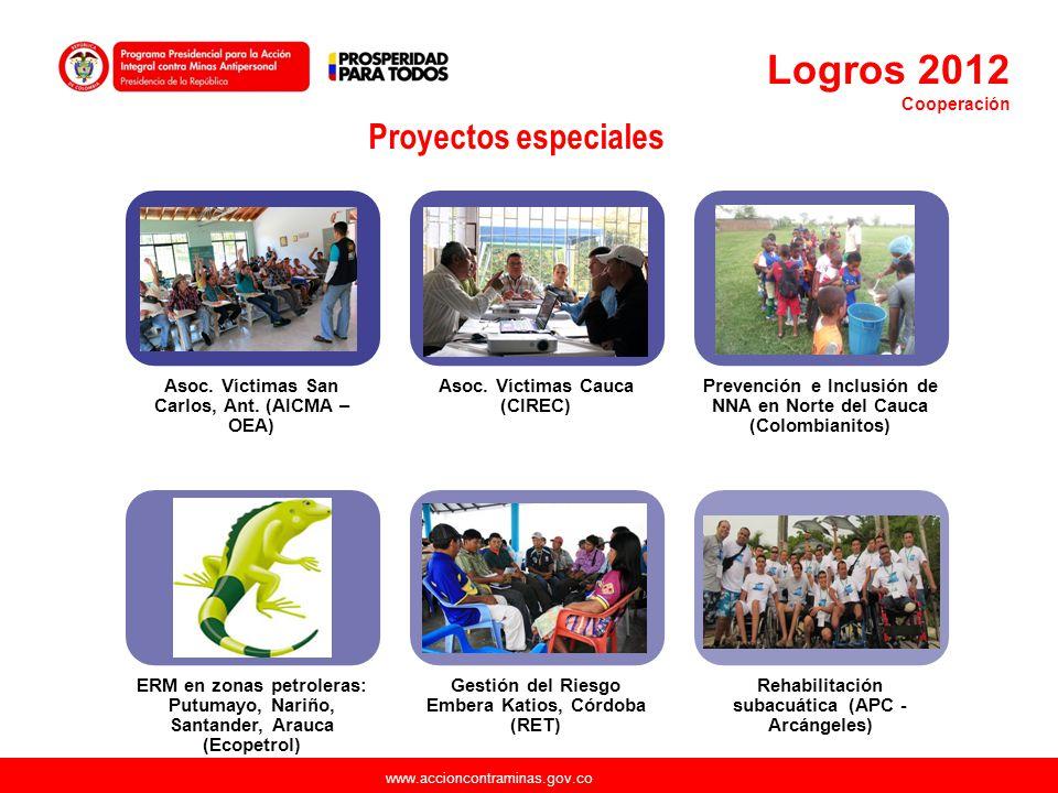 Logros 2012 Proyectos especiales