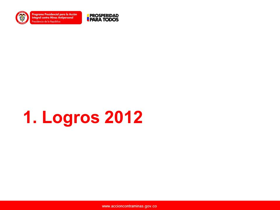 1. Logros 2012