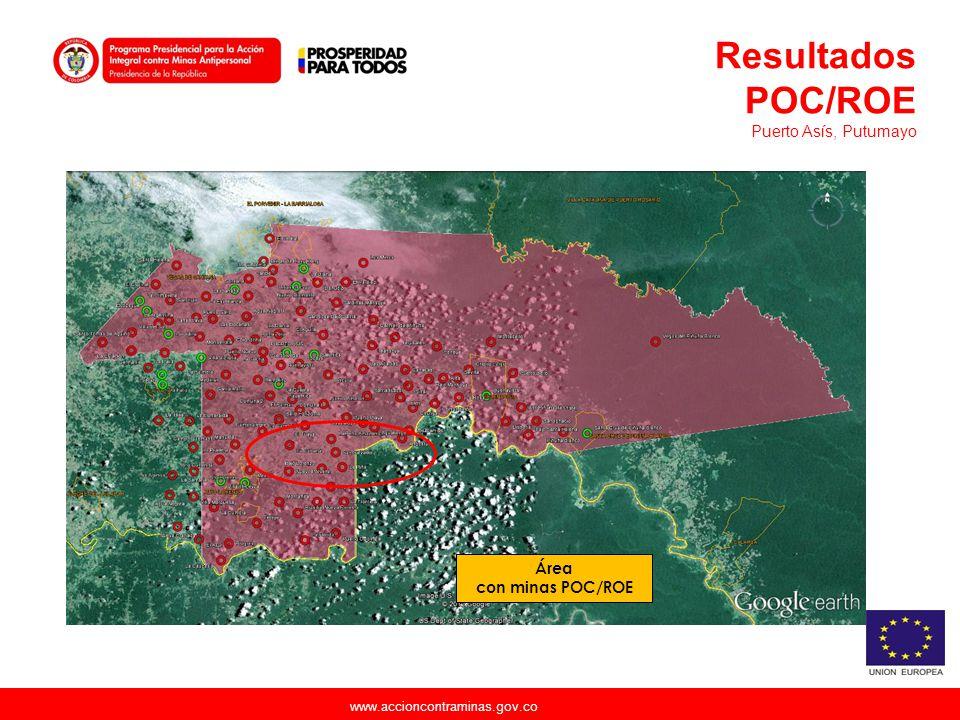 Resultados POC/ROE Puerto Asís, Putumayo Área con minas POC/ROE