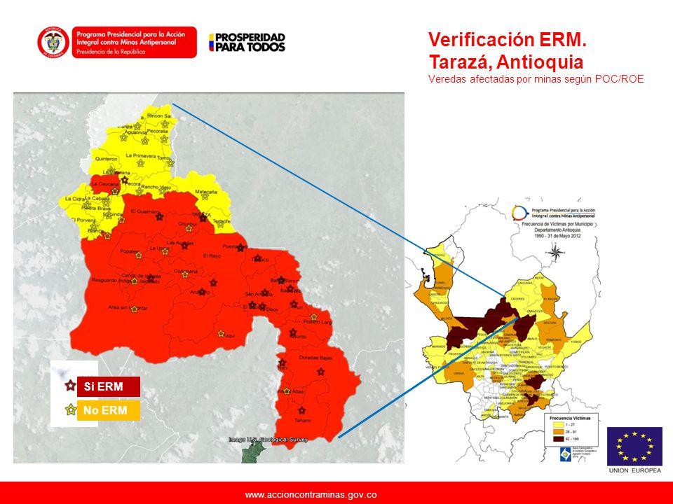Verificación ERM. Tarazá, Antioquia Si ERM No ERM