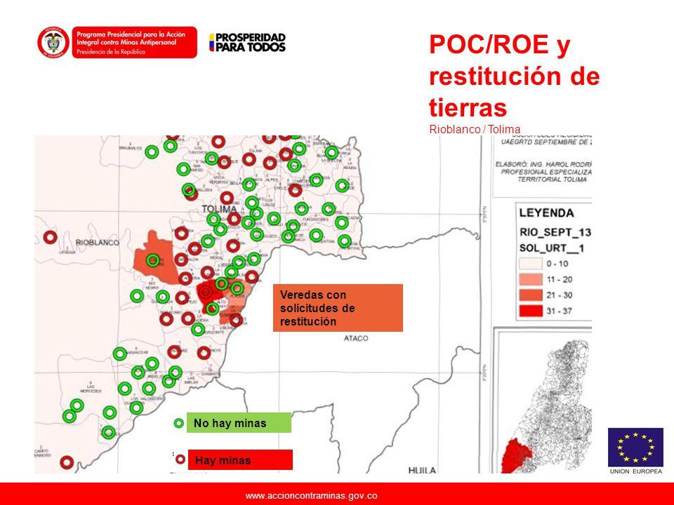 POC/ROE y restitución de tierras