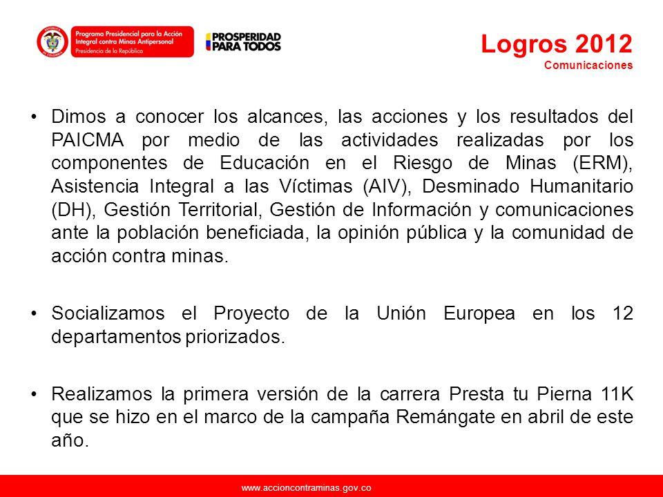 Logros 2012 Comunicaciones.