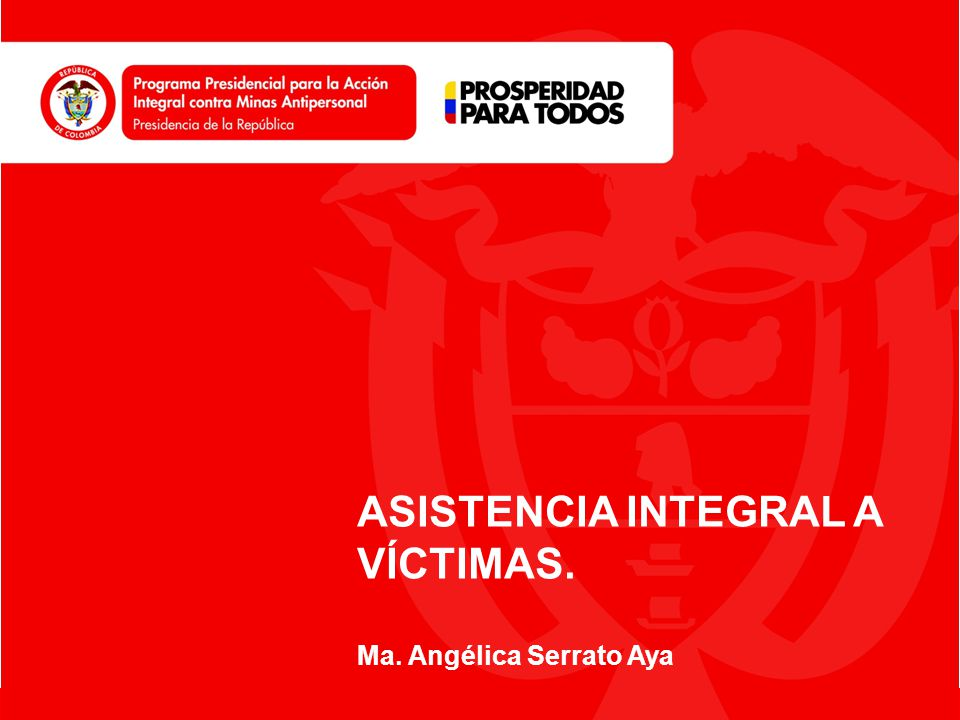 ASISTENCIA INTEGRAL A VÍCTIMAS.