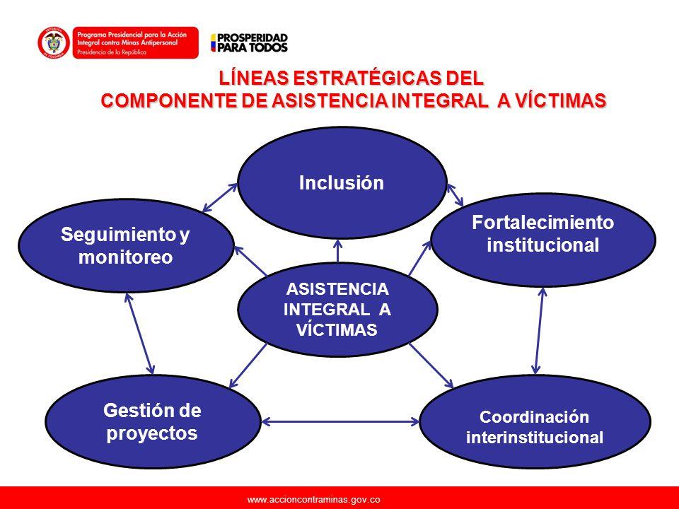 LÍNEAS ESTRATÉGICAS DEL COMPONENTE DE ASISTENCIA INTEGRAL A VÍCTIMAS