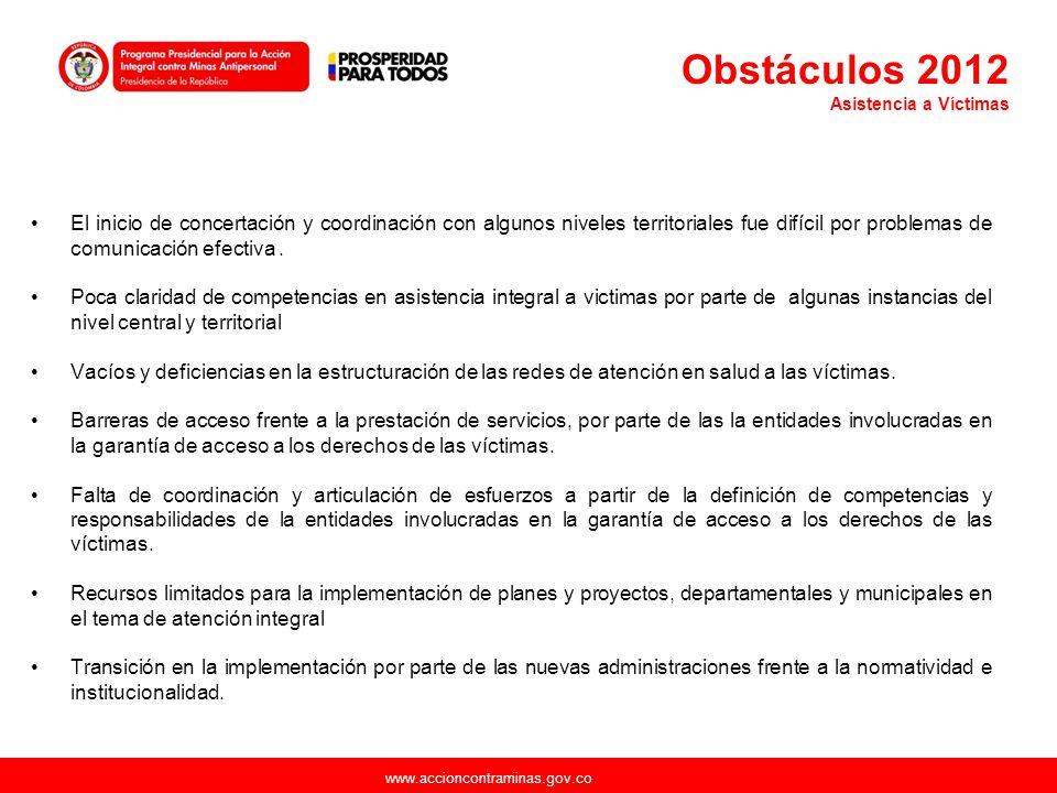 Obstáculos 2012 Asistencia a Víctimas.
