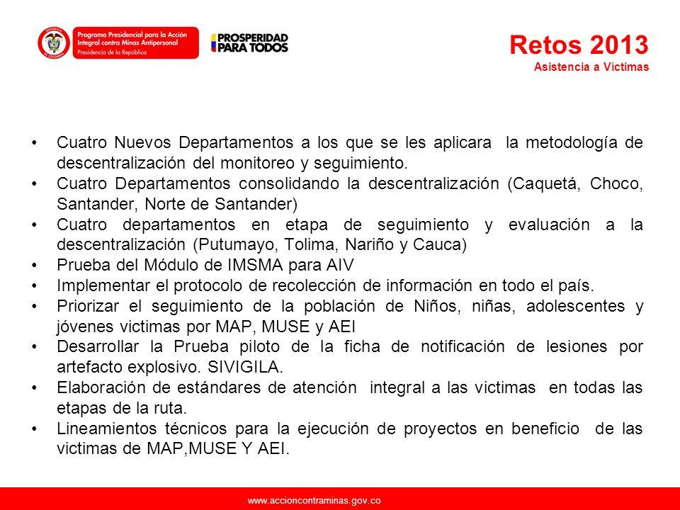 Retos 2013 Asistencia a Víctimas.