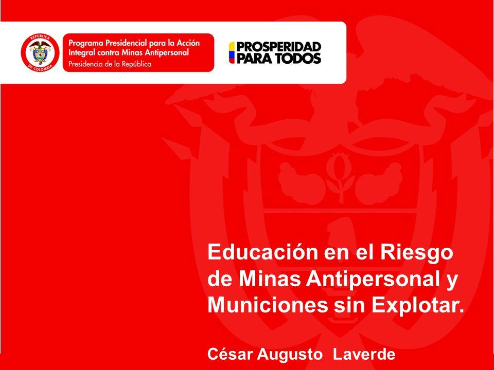 Educación en el Riesgo de Minas Antipersonal y Municiones sin Explotar.