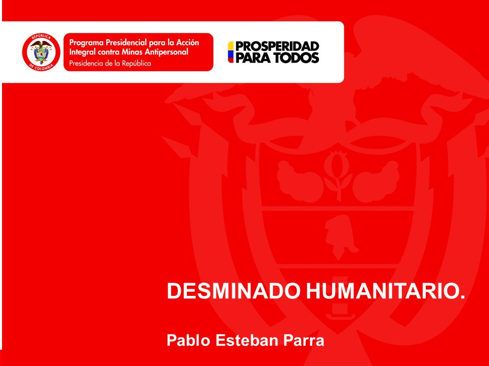 DESMINADO HUMANITARIO.
