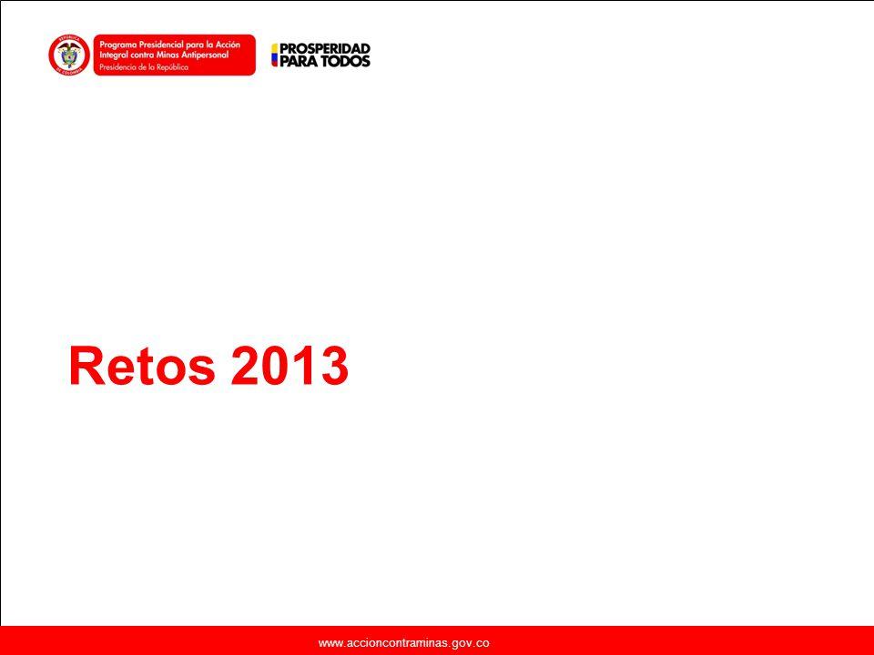 Retos 2013 www.accioncontraminas.gov.co