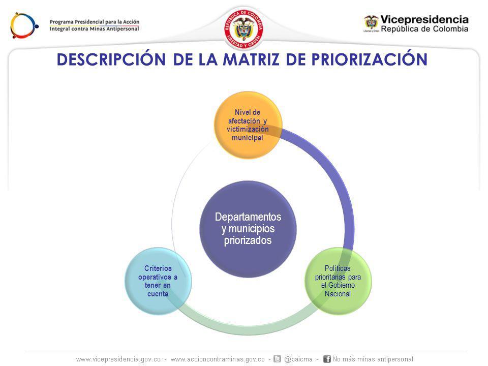 DESCRIPCIÓN DE LA MATRIZ DE PRIORIZACIÓN