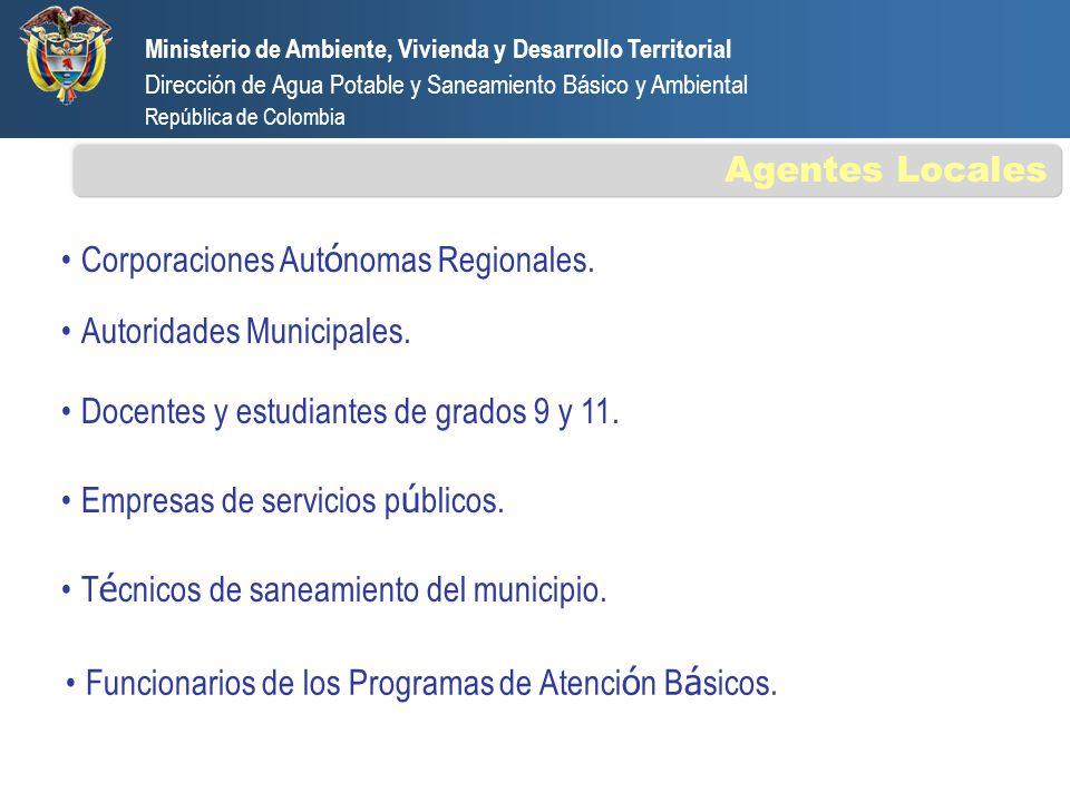 Corporaciones Autónomas Regionales.