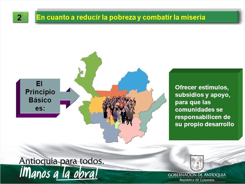 2 En cuanto a reducir la pobreza y combatir la miseria El Principio