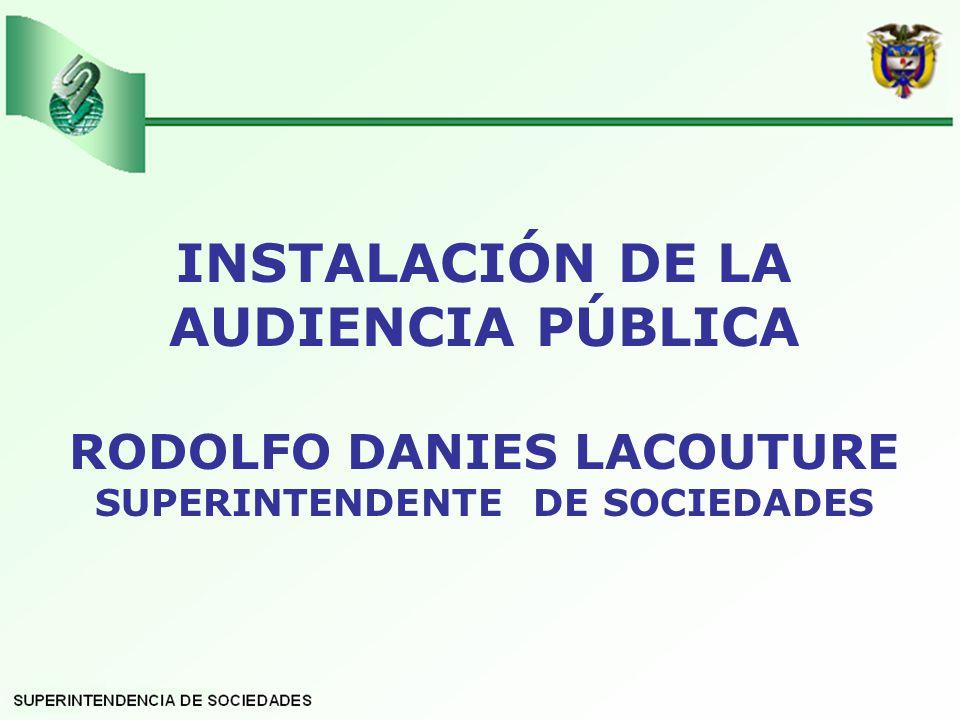 INSTALACIÓN DE LA AUDIENCIA PÚBLICA