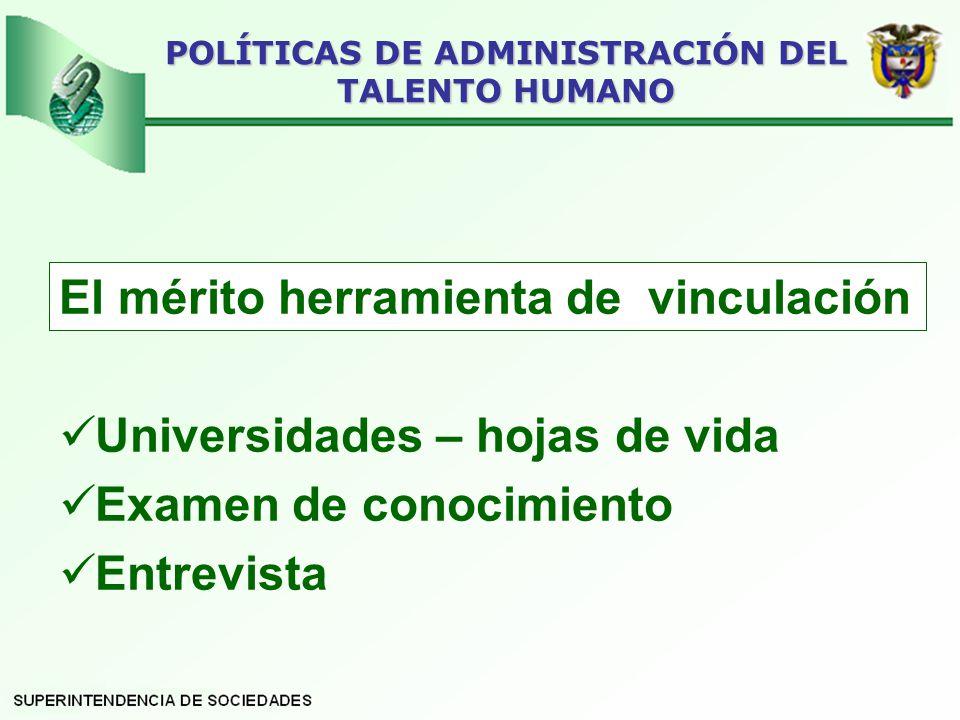 POLÍTICAS DE ADMINISTRACIÓN DEL TALENTO HUMANO