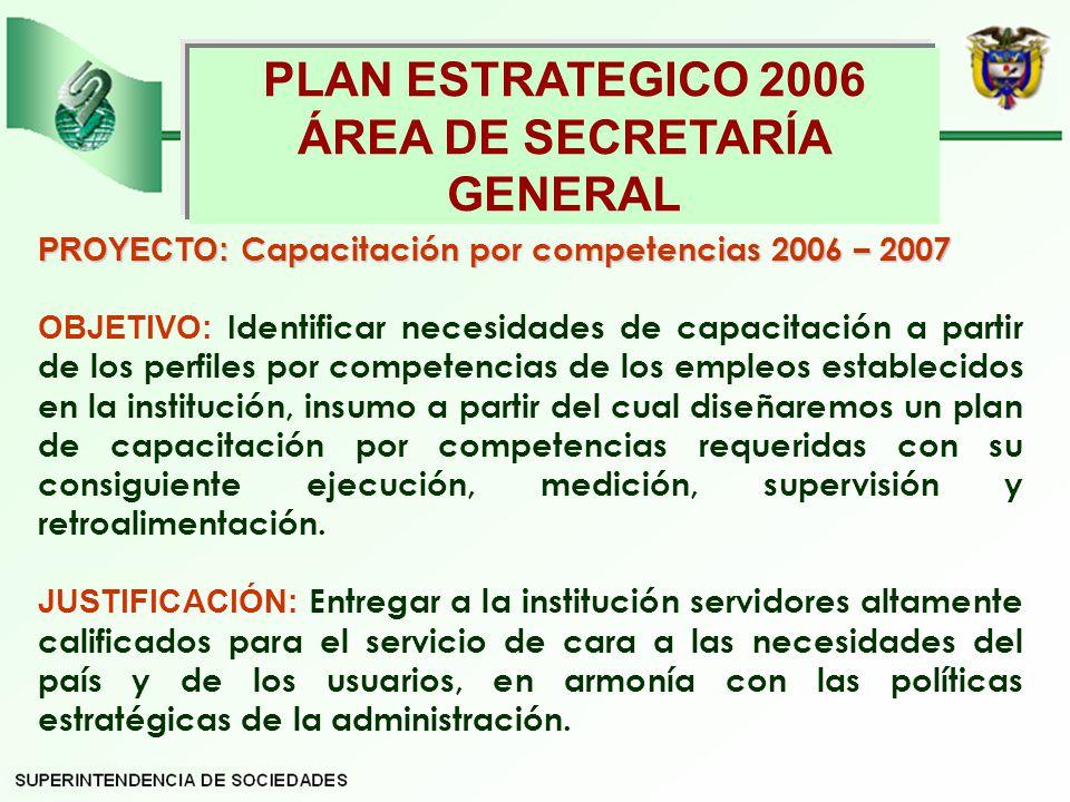 ÁREA DE SECRETARÍA GENERAL