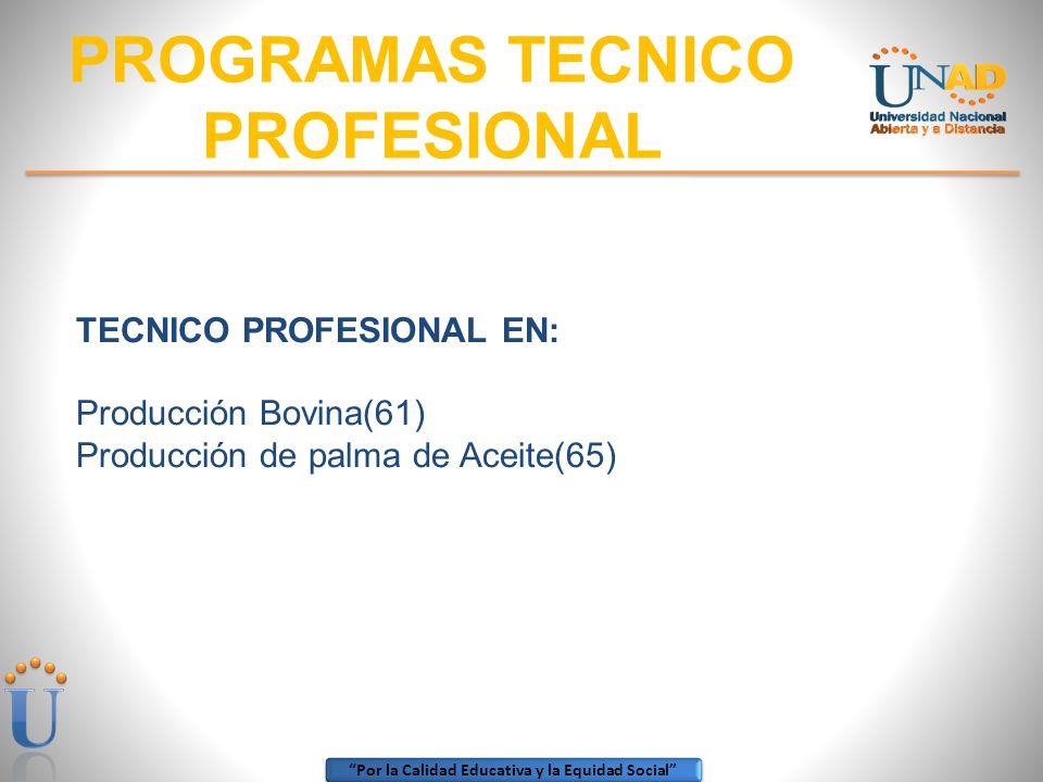 PROGRAMAS TECNICO PROFESIONAL