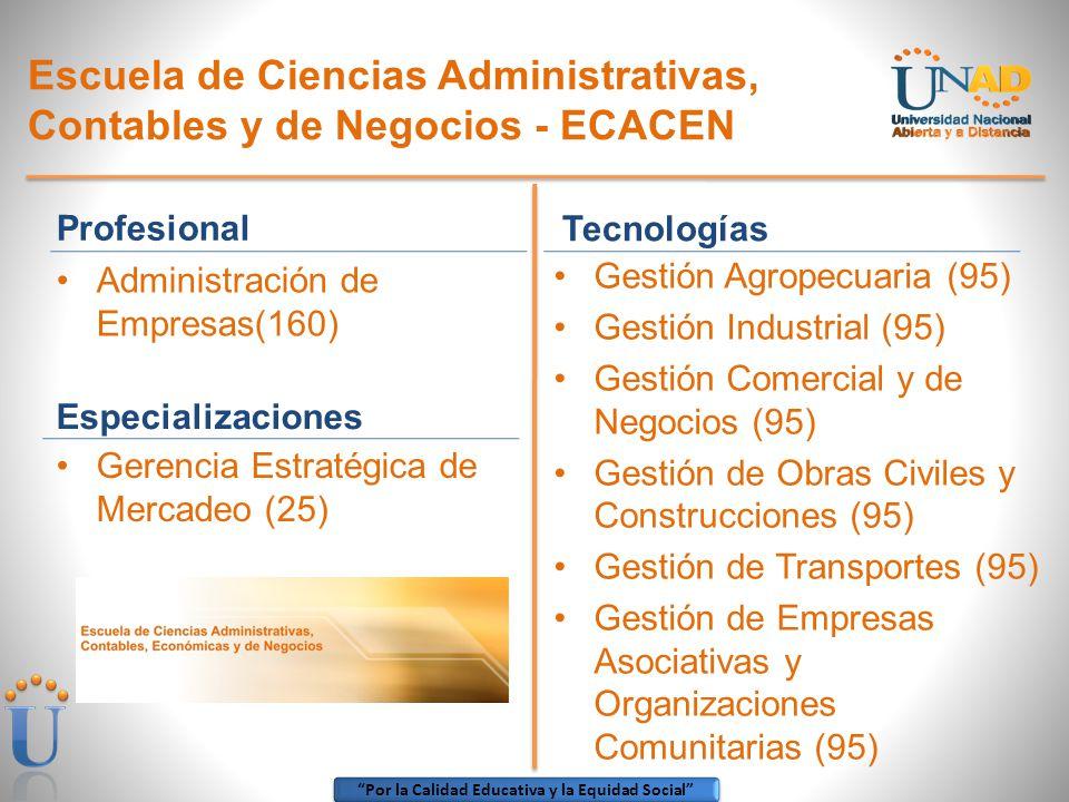 Escuela de Ciencias Administrativas, Contables y de Negocios - ECACEN