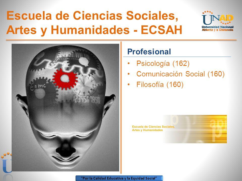 Escuela de Ciencias Sociales, Artes y Humanidades - ECSAH