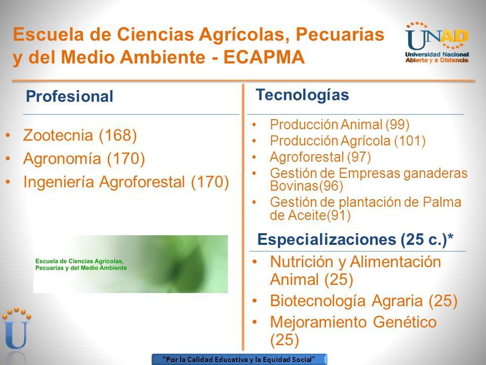Escuela de Ciencias Agrícolas, Pecuarias y del Medio Ambiente - ECAPMA
